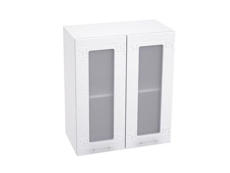Шкаф двухдверный со стеклом кухня Греция ширина 600 мм высота 720 мм Модуль №9