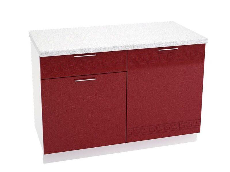 Стол комбинированный 1 ящик кухня Греция ширина 1200 мм высота 850 мм Модуль №67