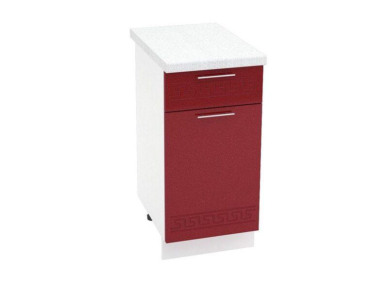 Стол однодверный 1 ящик кухня Греция ширина 400 мм высота 850 мм Модуль №30