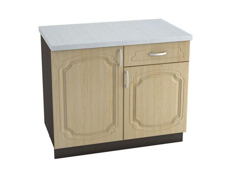 Стол комбинированный 1 ящик кухня Настя ширина 1000 мм высота 850 мм Модуль №61