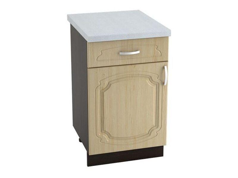 Стол однодверный 1 ящик кухня Настя ширина 500 мм высота 850 мм Модуль №45