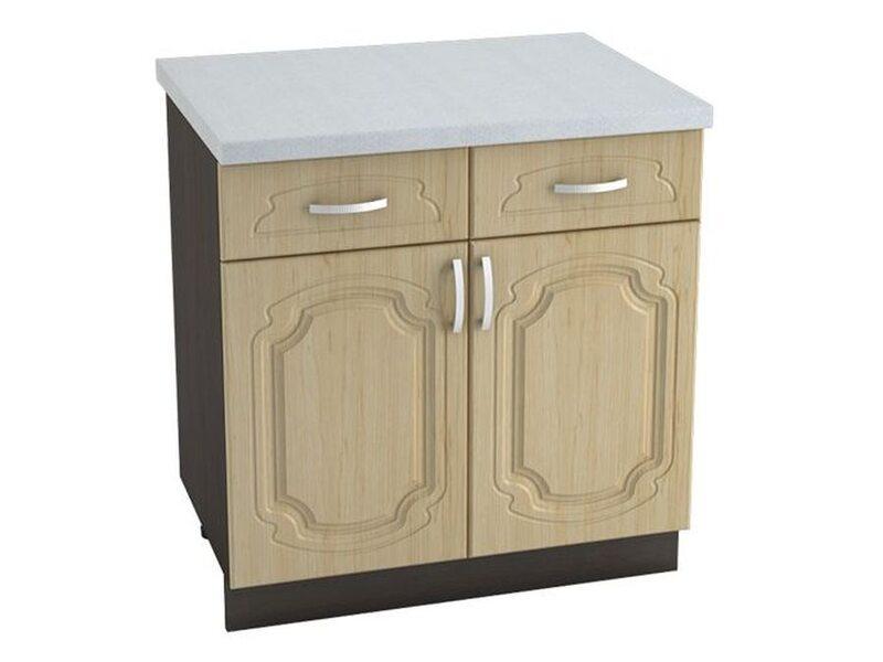 Стол двухдверный 2 ящик кухня Настя ширина 800 мм высота 850 мм Модуль №31