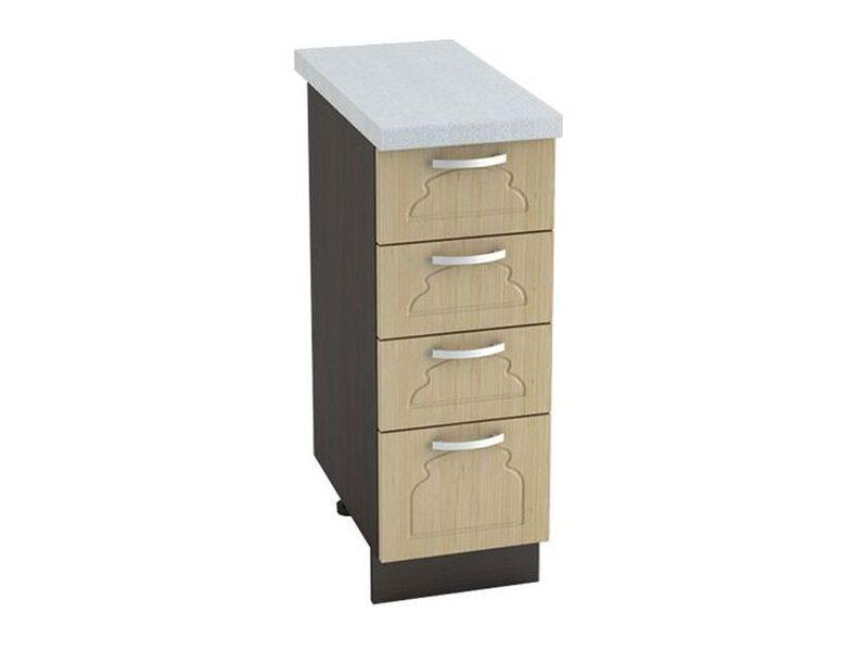 Стол 4 ящика кухня Настя ширина 300 мм высота 850 мм Модуль №32