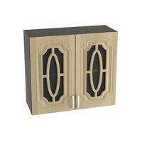Шкаф двухдверный со стеклом кухня Настя ширина 800 мм высота 720 мм Модуль №10