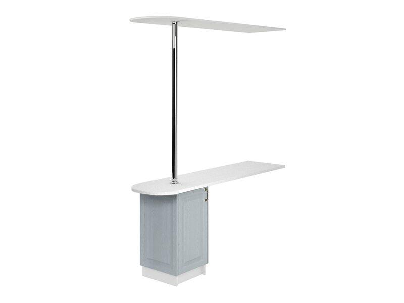 Стол с сферической барной стойкой и надстройкой кухня Ницца ширина 1790 мм высота 2380 мм Модуль №151