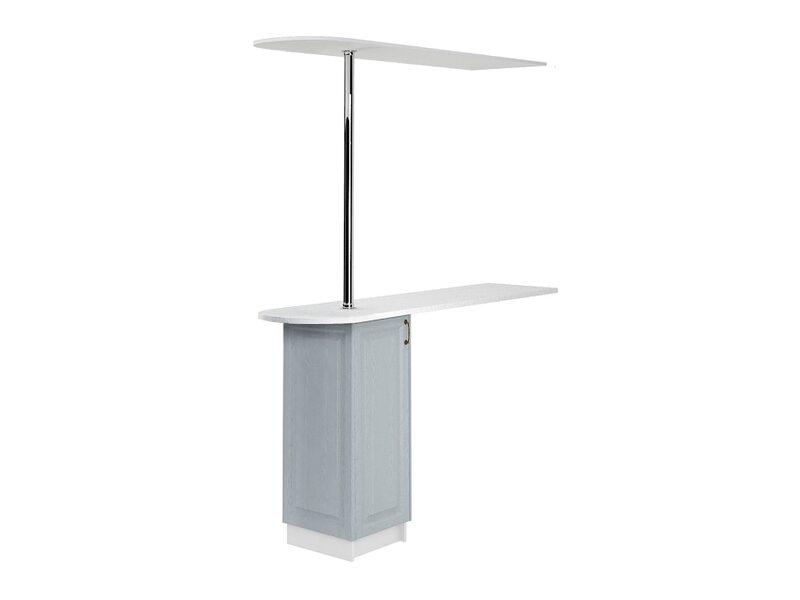 Стол с сферической барной стойкой и надстройкой кухня Ницца ширина 1790 мм высота 2450 мм Модуль №159