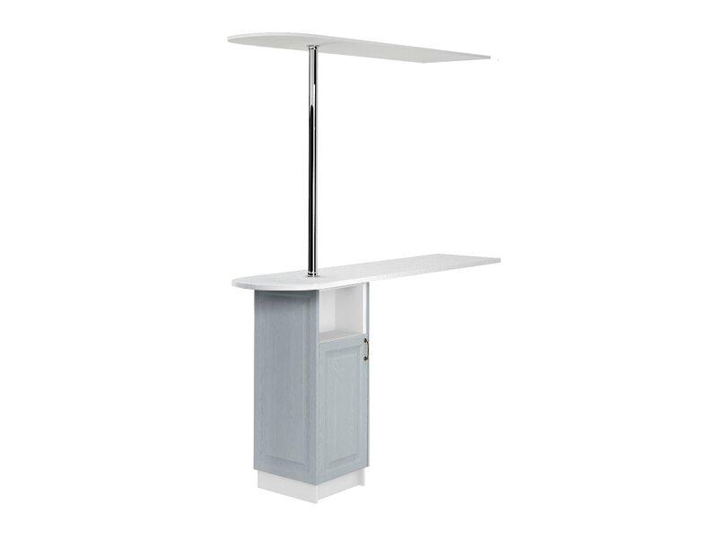 Стол с сферической барной стойкой и надстройкой кухня Ницца ширина 1790 мм высота 2450 мм Модуль №157