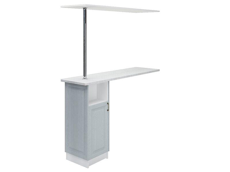 Стол с барной стойкой и надстройкой кухня Ницца ширина 1790 мм высота 2176 мм Модуль №152