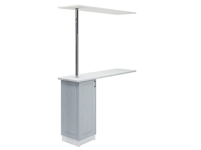 Стол с барной стойкой и надстройкой кухня Ницца ширина 1790 мм высота 2450 мм Модуль №158