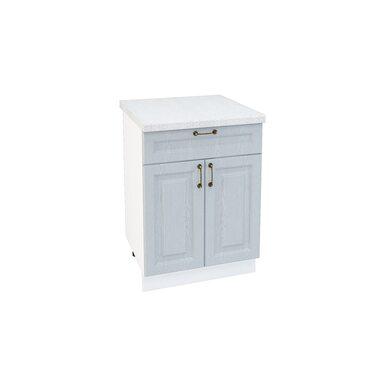 Стол двухдверный 1 ящик кухня Ницца ширина 600 мм высота 850 мм Модуль №64