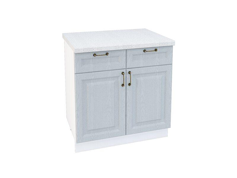 Стол двухдверный 2 ящик кухня Ницца ширина 800 мм высота 850 мм Модуль №33