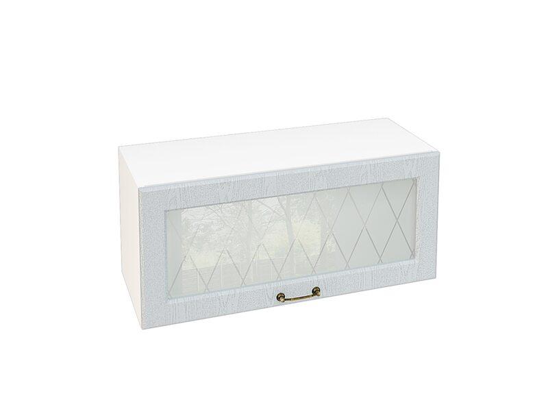 Шкаф горизонтальный со стеклом кухня Ницца ширина 800 мм высота 360 мм Модуль №18
