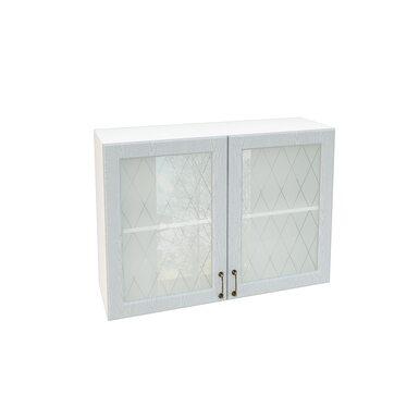 Шкаф двухдверный со стеклом кухня Ницца ширина 1000 мм высота 720 мм Модуль №63