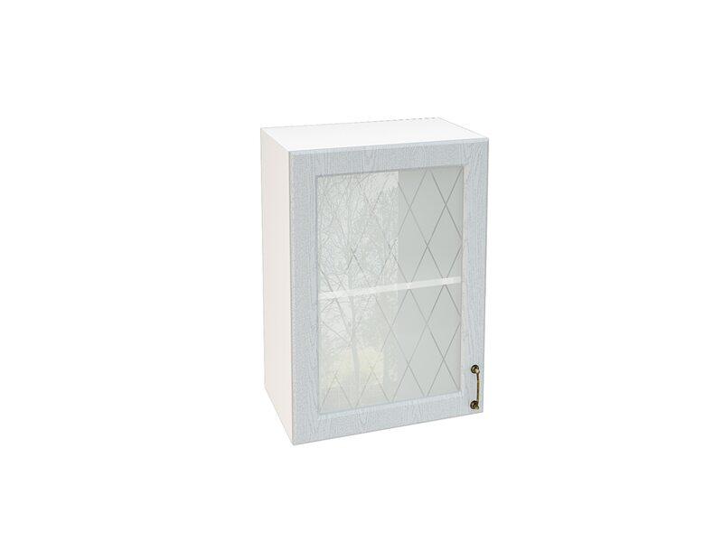 Шкаф однодверный со стеклом кухня Ницца ширина 500 мм высота 720 мм Модуль №8
