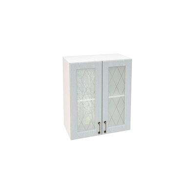Шкаф двухдверный со стеклом кухня Ницца ширина 600 мм высота 720 мм Модуль №9