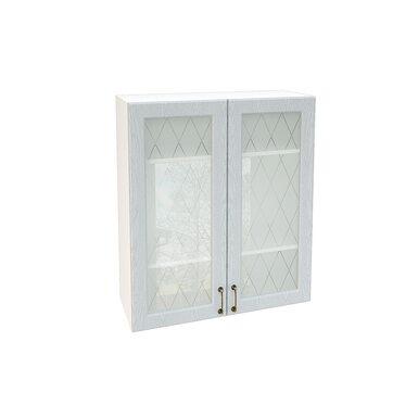 Шкаф двухдверный со стеклом кухня Ницца ширина 800 мм высота 920 мм Модуль №131