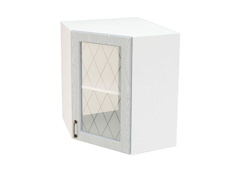 Шкаф угловой со стеклом кухня Ницца ширина 590 мм высота 720 мм Модуль №12