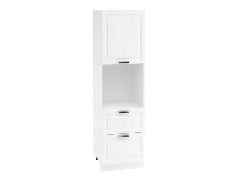 Колонна под духовой шкаф 2 ящика кухня Прага ширина 600 мм высота 2132 мм Модуль №70