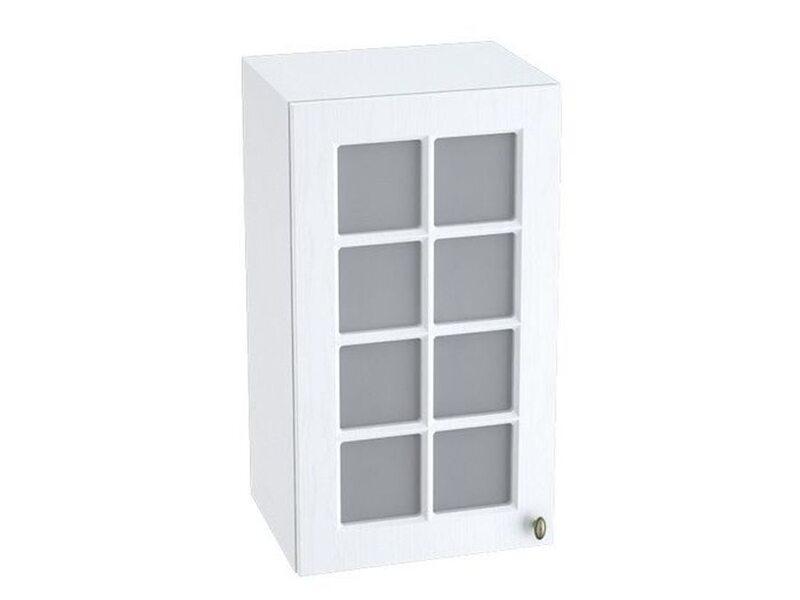 Шкаф однодверный со стеклом кухня Прованс ширина 400 мм высота 720 мм Модуль №9