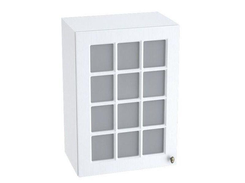 Шкаф однодверный со стеклом кухня Прованс ширина 500 мм высота 720 мм Модуль №10