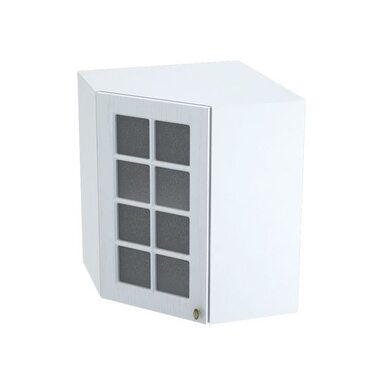 Навесной шкаф со стеклом на 590 мм