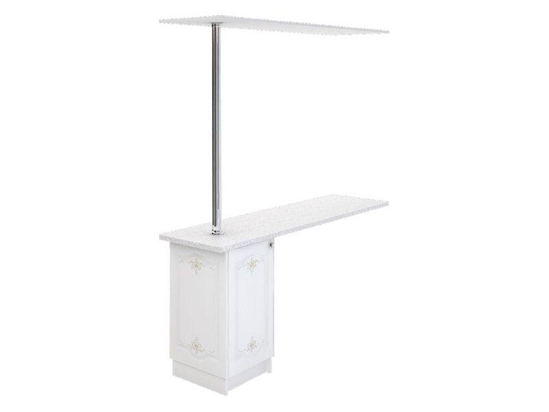 Стол с барной стойкой и надстройкой кухня Шарлиз ширина 1790 мм высота 2096 мм Модуль №148