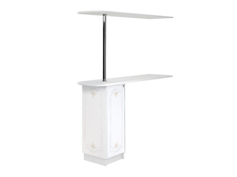 Стол с сферической барной стойкой и надстройкой кухня Шарлиз ширина 1790 мм высота 2176 мм Модуль №155