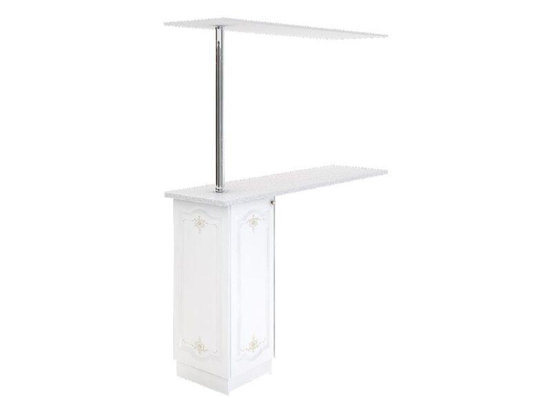 Стол с барной стойкой и надстройкой кухня Шарлиз ширина 1790 мм высота 2176 мм Модуль №154