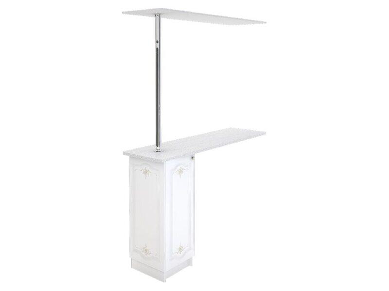 Стол с барной стойкой и надстройкой кухня Шарлиз ширина 1790 мм высота 2450 мм Модуль №158