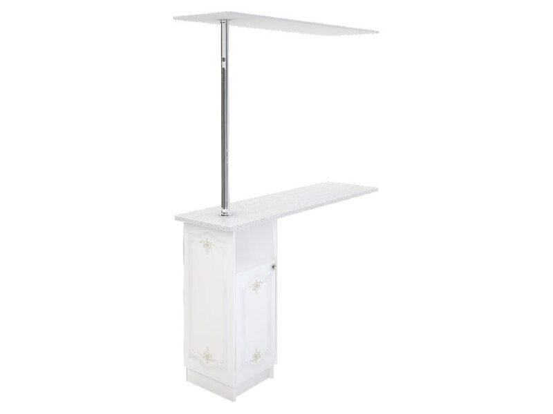 Стол с барной стойкой и надстройкой кухня Шарлиз ширина 1790 мм высота 2450 мм Модуль №156