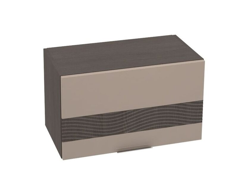 Шкаф горизонтальный + Декор 600 мм №23 - Терра gloss