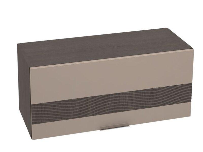 Шкаф горизонтальный + Декор 800 мм №24 - Терра gloss