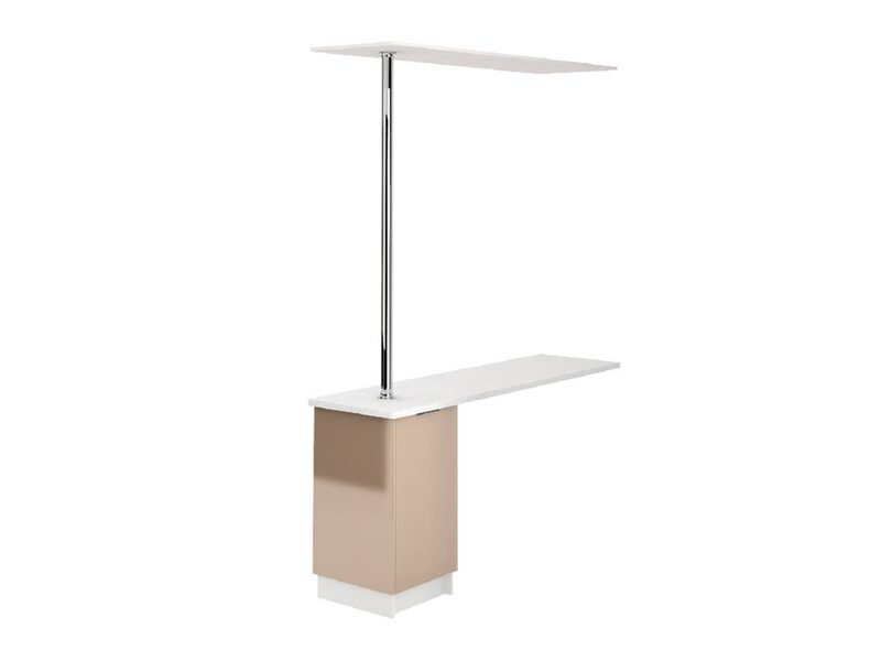 Стол с барной стойкой и надстройкой кухня Терра глосс ширина 1790 мм высота 2380 мм Модуль №163