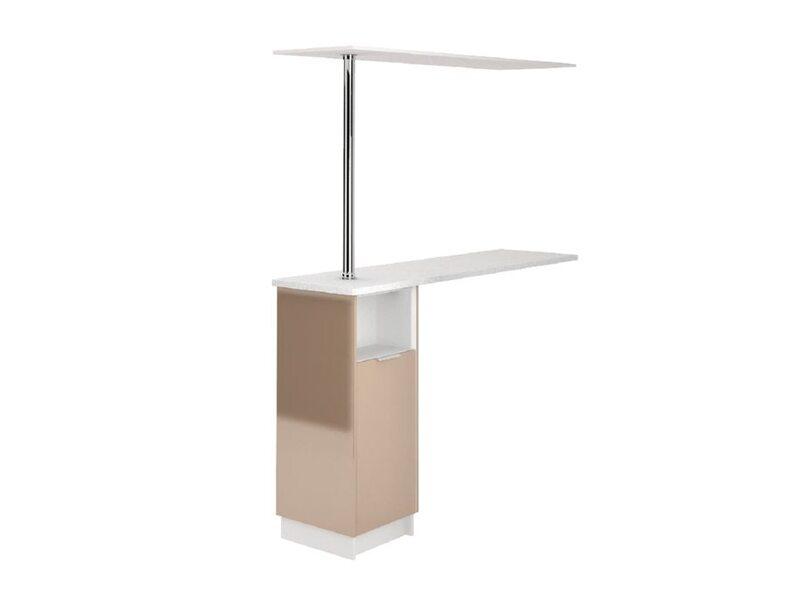 Стол с барной стойкой и надстройкой кухня Терра глосс ширина 1790 мм высота 2176 мм Модуль №165
