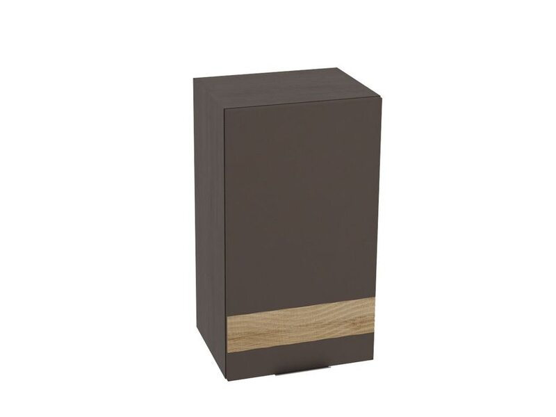 Шкаф навесной распашной 1 дверца + Декор 400 мм №8 - Терра soft