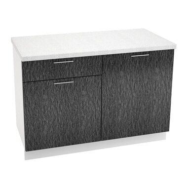 Стол комбинированный 1 ящик кухня Валерия-М ширина 1200 мм высота 850 мм Модуль №38