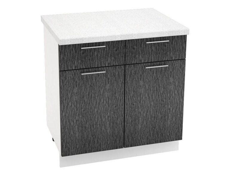 Стол двухдверный 2 ящик кухня Валерия-М ширина 800 мм высота 850 мм Модуль №36