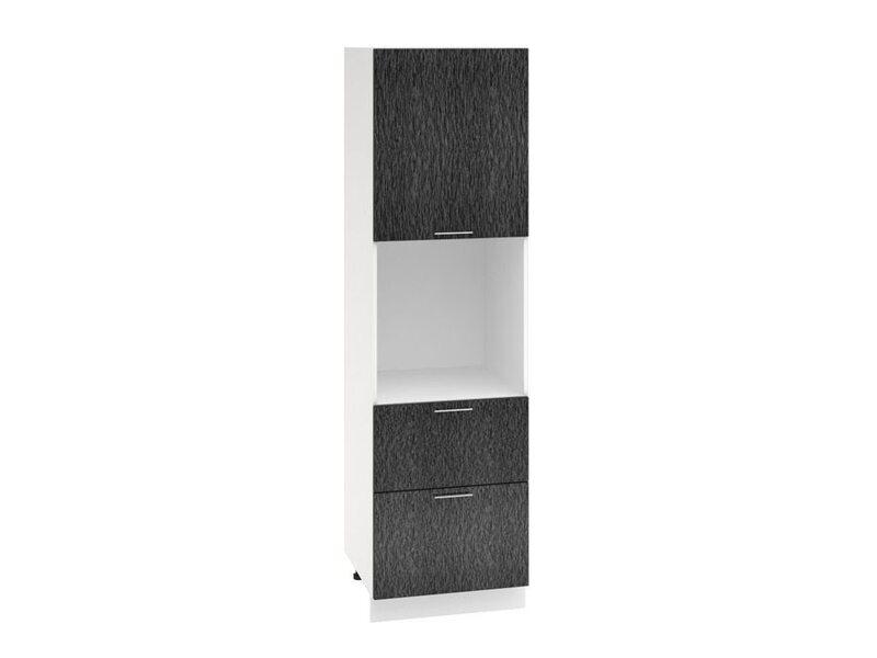Колонна под духовой шкаф 2 ящика кухня Валерия-М ширина 600 мм высота 2130 мм Модуль №70