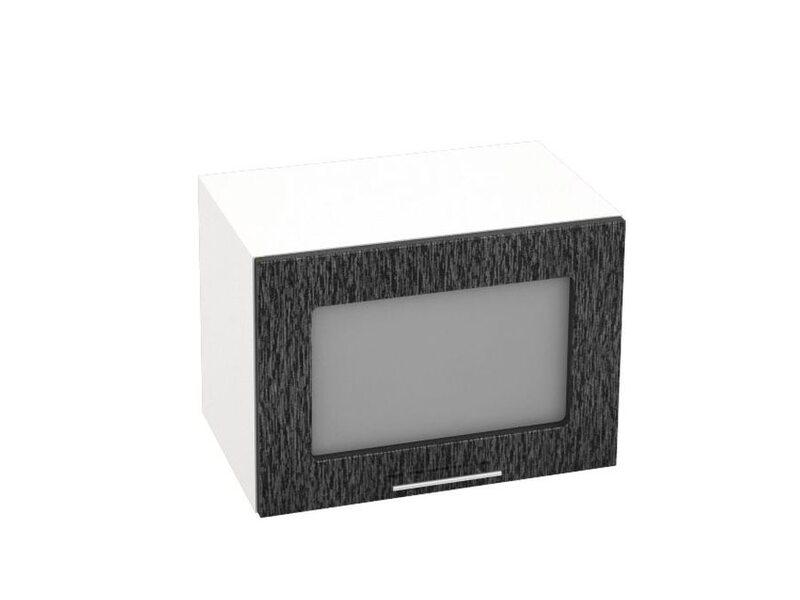 Шкаф горизонтальный со стеклом кухня Валерия-М ширина 500 мм высота 360 мм Модуль №19