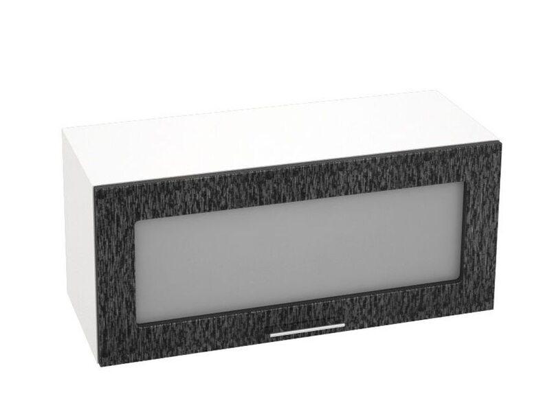 Шкаф горизонтальный со стеклом кухня Валерия-М ширина 800 мм высота 360 мм Модуль №21
