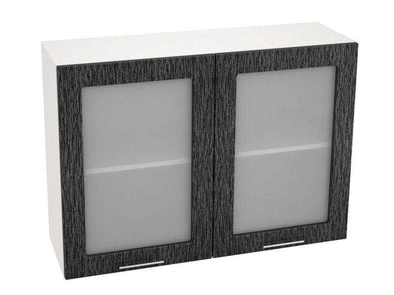 Шкаф двухдверный со стеклом кухня Валерия-М ширина 1000 мм высота 720 мм Модуль №13