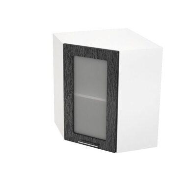 Шкаф угловой со стеклом кухня Валерия-М ширина 590 мм высота 720 мм Модуль №15