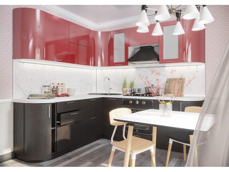Модульная кухня Валерия-М длина 2.3 метра, ширина 2.0 метра