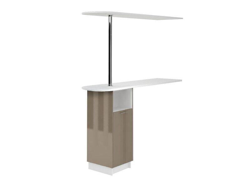 Стол с барной стойкой и надстройкой кухня Валерия-М ширина 1790 мм высота 2176 мм Модуль №152