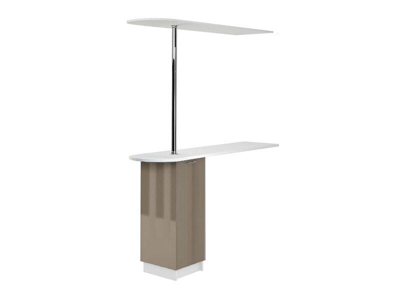 Стол с барной стойкой и надстройкой кухня Валерия-М ширина 1790 мм высота 2450 мм Модуль №158