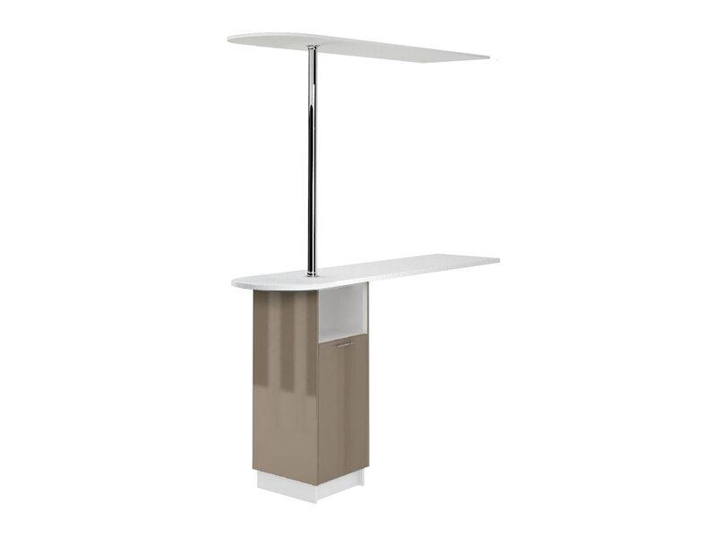 Стол с барной стойкой и надстройкой кухня Валерия-М ширина 1790 мм высота 2450 мм Модуль №156