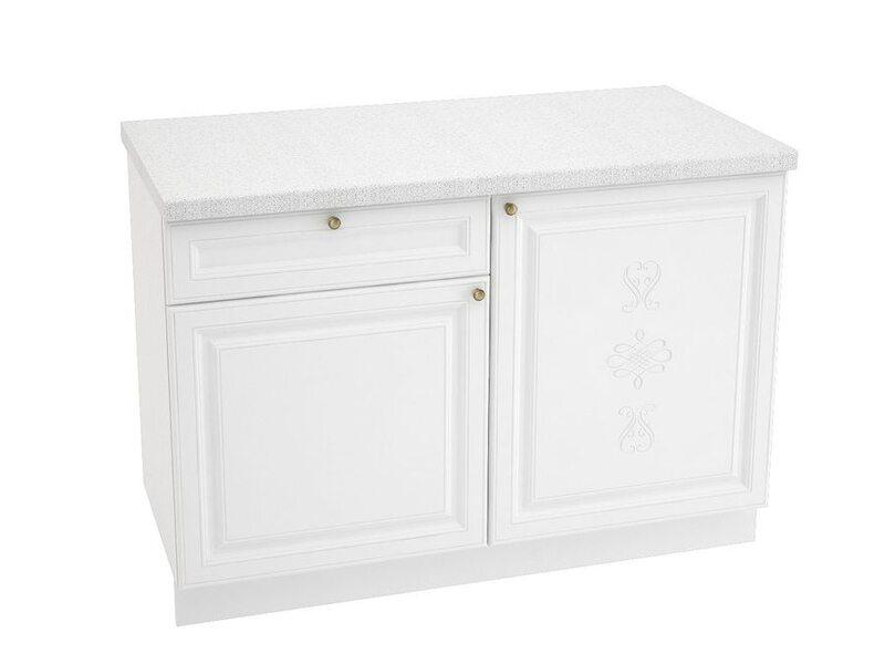 Стол комбинированный 1 ящик, кухня Версаль. Ширина 1200 мм высота 850 мм Модуль №38