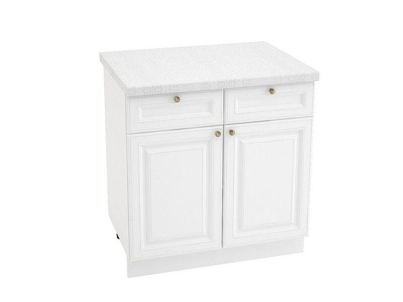 Стол двухдверный 2 ящика, кухня Версаль. Ширина 800 мм высота 850 мм Модуль №36