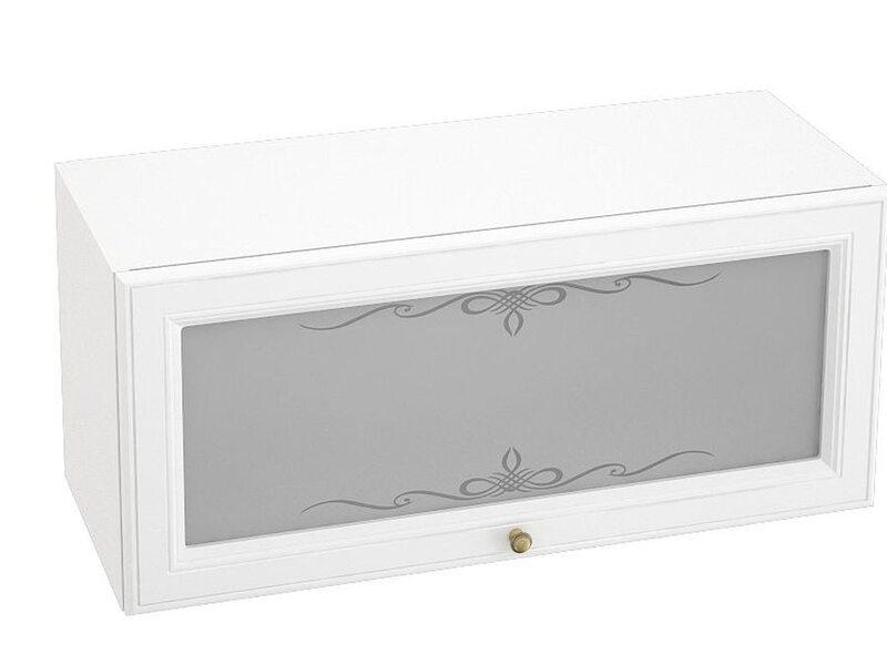 Шкаф горизонтальный со стеклом, кухня Версаль. Ширина 800 мм высота 360 мм Модуль №21