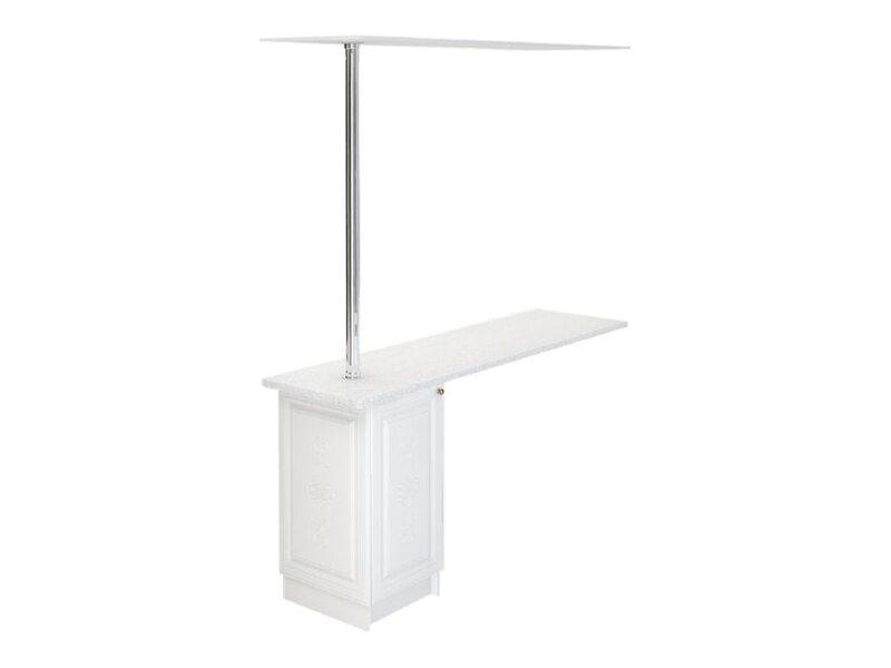 Стол с барной стойкой и надстройкой кухня Версаль ширина 1790 мм высота 2096 мм Модуль №148